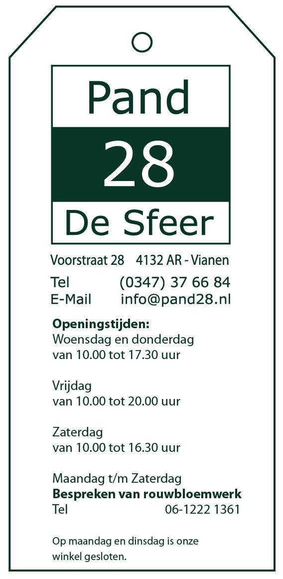 Contact informatie Woonwinkel Pand28